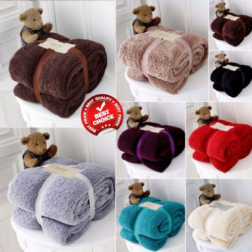 Luxury Soft Teddy Fleece Throws